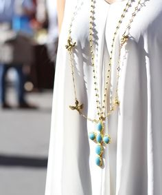 Layering necklaces is my favorite style, by far. There are no rules, and it spices up an outfit so easily! For a little layering inspiration, check our blog: http://gypsyhandmade.com/blog/2016/09/30/inspiration-for-layering-necklaces/ Follow the link in our blog to shop these pieces! #Gypsy #gypsyfashion #popsugar