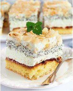 Rafaello na krakersach - I Love Bake Latte Macchiato, Food Cakes, Holiday Desserts, Coleslaw, Vanilla Cake, Cake Recipes, Cheesecake, Pudding, Pavlova