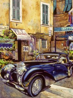 Bugatti Painting by Mike Hill - Bugatti Fine Art Prints and Posters for Sale