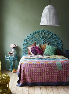 Wow! Way to make use of a basket woven style! Check out the lighting shade.
