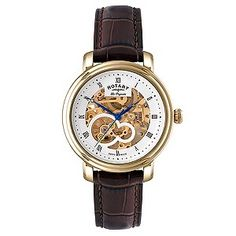 Rotary Men's Yellow Gold Plated Skeleton Watch - H Samuel (£495)