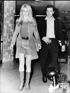 "missbrigittebardot: "" Brigitte Bardot & Alain Delon, 1967 """