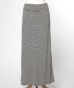 Taupe & Black Stripe Maxi Skirt » Oh, I should probably get this, great for summer!