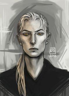 Portrait Sketch_ Foster by BlackBirdInk