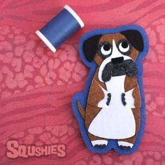 Maisie the Boxer - Felt Patch