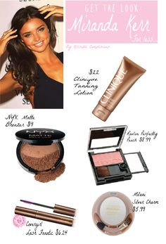 Get the look for less: Miranda Kerr @ Kissablecomplexions.com