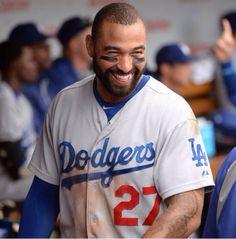 That damn smile, Matt Kemp. Dodgers Baseball, Baseball Players, Matt Kemp, Dodger Blue, Guy Names, Los Angeles Dodgers, Fine Men, Beast Mode, Wallpapers