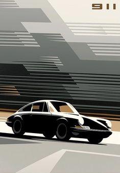 Man Allen print : Porsche 911 – – My Company Porsche 912, Porsche 911 Classic, Porsche Cars, Car Images, Car Pictures, Photos, Vintage Porsche, Car Illustration, Car Posters