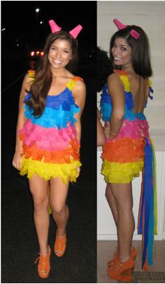 Piñata DIY costume - Could do a couple's costume= me as piñata, and matt with sombrero and poncho