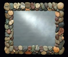 picture frame river rock photo frame 20693