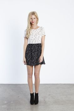 inverse short sleeve dress #eightsixty #resort14