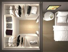 Dressing : implantation en U Comment aménager un dressing en U ? Small Dressing Rooms, Dressing Room Design, Dressing Room Closet, Wardrobe Design Bedroom, Bedroom Wardrobe, Walk In Closet Design, Closet Designs, Closet Layout, Closet Remodel