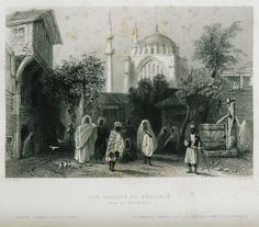 View of the Nuruosmaniye Mosque from the slave market of Istanbul. - PARDOE, Julia - 1838