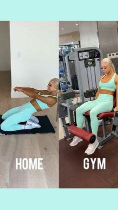 Gym Workout Videos, Gym Workout For Beginners, Fitness Workout For Women, Easy Workouts, Butt Workout, At Home Workout Plan, Sport, Exercises, Yoga