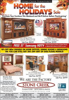 Home For The Holidays   Stone Creek Furniture. Purchase Your Furniture This  Weekend And We