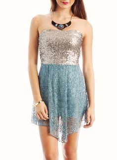 sequined floral lace dress !! i love this
