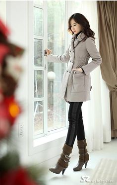 Slim padded collar bud products Coat-cotton-$50.03