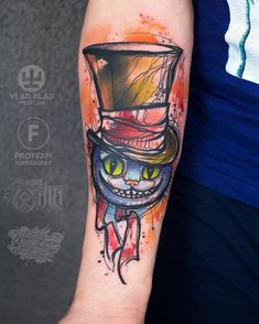 Cheshire Cat Tattoo by vika_kiwitattoo
