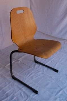 Souvignet Mid-Century Modern Design Bentwood French School Chairs on Etsy, $120.00