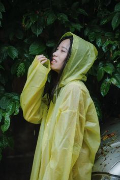 Vinyl Raincoat, Yellow Raincoat, Rain Wear, Hoods, Girls, Women, Fashion, Plastic, Accessories