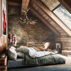 Master bedroom attic design and 60 attic bedroom ideas many designs 39 attic rooms cleverly making use of 15 attic bedrooms that will make you cool attic bedroom design ideas … Interior Architecture, Interior And Exterior, Chalet Interior, Amazing Architecture, Cabin Interior Design, Exterior Design, Architecture Memes, Architecture Today, Creative Architecture