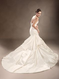 Style No. Y11314 » Sophia Tolli - shown in Ivory (back)