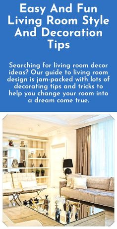 Easy Living Room Design And Decor Tips