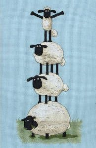 Shaun the Sheep Cross Stitch Kit - This High   eBay  Bella!