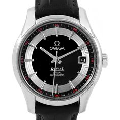17781 Omega DeVille Hour Vision Black Dial Mens Watch 431.33.41.21.01.001 SwissWatchExpo