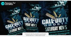 Call of Duty Ghosts Psd Flyer | Free COD Psd Flyer | sickflyers.com