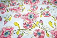 Happy Blossoms in Blue from the Hello World Collection by Cori Dantini for Blend Fabrics - fabric by the yard