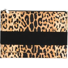 GIVENCHY Leopard Print Clutch (£575) ❤ liked on Polyvore featuring bags, handbags, clutches, leopard clutches, leopard print handbags, leopard handbag, givenchy y brown handbags