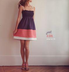 Patron de robe à smocks : Just a girl // easy smocks. La vraie petite robe à smocks du 4ans au 16ans (34/36/38 inclus). Des smocks qui ne font pas peur, réalisables sur n'importe quelle machine à coudre. Une robe à la ligne épurée mais travaillée de détails so chic. Chaque taille propose deux largeurs au choix pour adapter le volume des smocks à votre tissu. En bonus, la version PRINCESS pour une robe de star ! ♥♡♡ Niveau débutant Vanessa Pouzet