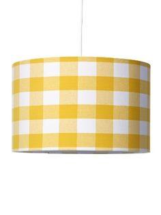 Hanglamp 40 cm blok geel