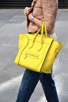 Yellow Céline Boston bag