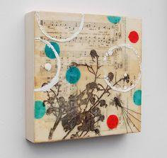 Making a BEE-Line - Original Encaustic Mixed Media Painting by SusanNajarianArt, via Flickr
