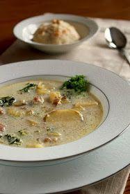 Fancy Napkin: .Zuppa Toscana Soup.