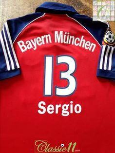 809a5a0fd06 1999 00 Bayern Munich Home Bundesliga Football Shirt Sergio  13 (Y)
