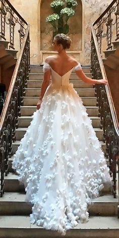 36 Romantic Off The Shoulder Wedding Dresses ❤ off the shoulder wedding dresses trendy open back floral a line suzanne neville ❤ See more: http://www.weddingforward.com/off-the-shoulder-wedding-dresses/ #weddingforward #wedding #bride #bridalgown