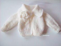 sweterek na drutach dla lalki