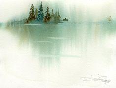 Distant Shoreline of Trees by Steve Penberthy