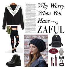 """""""ZAFUL Contest!"""" by kathssong ❤ liked on Polyvore featuring Boohoo, Forever 21, L.A. Girl, Miss Selfridge, Braun and Vance Co."""