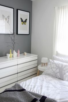 Grey walls can be cosy with white/pastels