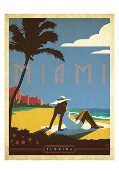 Miami, Florida Poster von Anderson Design Group bei AllPosters.de