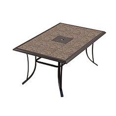"""Wilson & Fisher® Monterra 65"""" Rectangular Tile Top Dining Table"""