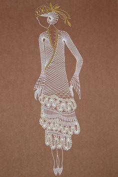 Paličkování - Cerca con Google Bobbin Lace Patterns, Bead Loom Patterns, Embroidery Patterns, Hairpin Lace Crochet, Crochet Motif, Lace Earrings, Lace Jewelry, Teneriffe, Bobbin Lacemaking