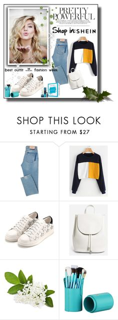 """Color Block Sweatshirt"" by amiraaa-k ❤ liked on Polyvore featuring WithChic, Everlane and shein"