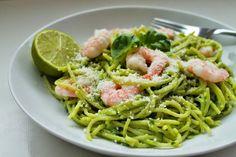 Delicious & Gluten Free: GF Avocado Spaghetti with King Prawns