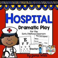 """This dramatic play center includes everything you need to set up a fun, literacy-rich, organized, play-based Hospital or Doctor's Office in your Early Childhood classroom!  Its perfect to use during a Health/Nutrition or Community Helpers unit.Includes:Equipment labels  (stethoscope, thermometer, shots, tongue depressors, masks, cotton balls, etc.)Area Labels  (""""Sign In Here"""", Triage, Exam Room)Sign In Sheet  (blackline master for photocopies)Official ID Badges blank ID badges to customize…"""