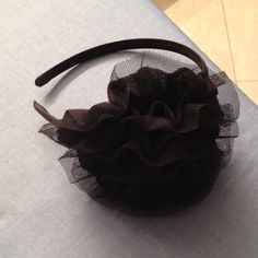 Black flower headband Original black flower headband! Perfect for yourself or a Christmas gift!! Accessories Hair Accessories